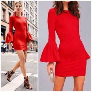 Calvin Tran Designer Label 3/4 Bell Sleeve Dress